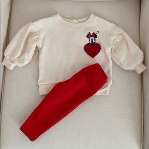 GAP Disney Minnie Mouse Heart Sweatshirt
